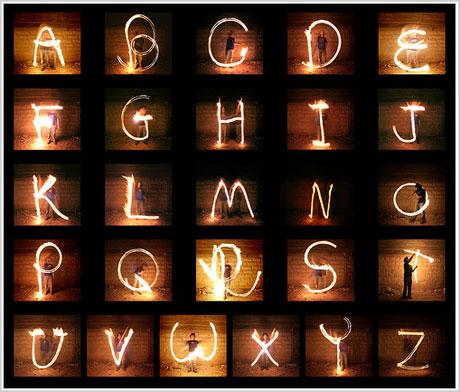 alphabet-light-writing