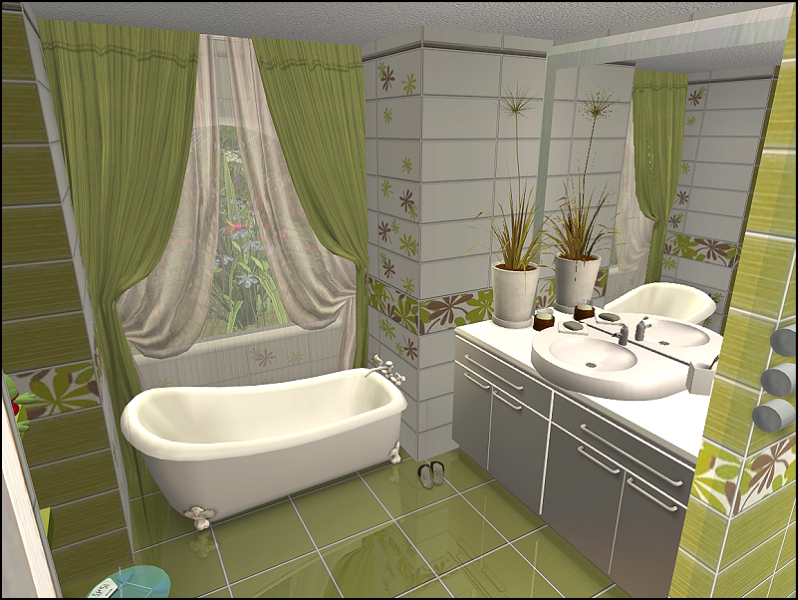 The house our marriage built part 2 the romantic vineyard for Bathroom ideas sims 3