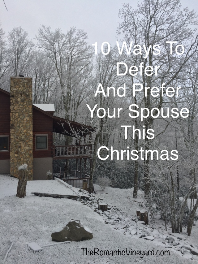 10 Ways to defer and prefer your spouse this Christmas