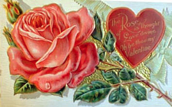 A Victorian Valentine similar to the one we had the men in our small group write to their wives.