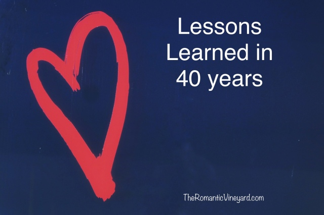 Lessons learned in 40 years of marriage.