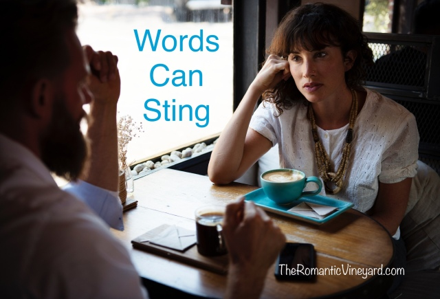 Stinging words can impact a marriage in a negative way. The enemy loves to use this one tactic to bring division. Be aware of it and flee!