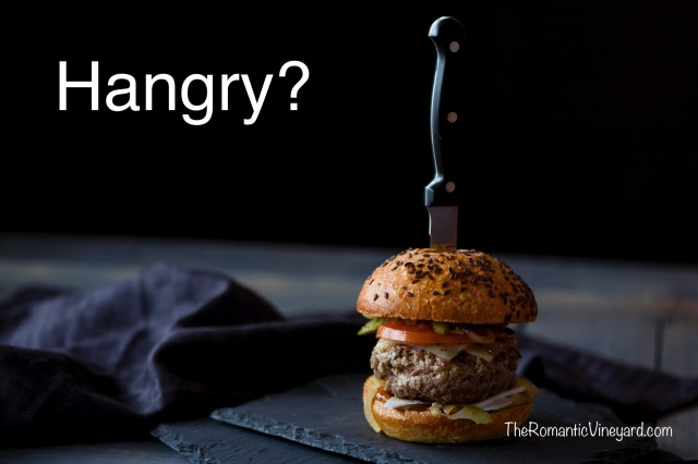 Hangry is a combination of two words--hungry and angry. Anger often has the same appetite of hunger. It craves what it doesn't have and results in a harsh outburst. Ugly.