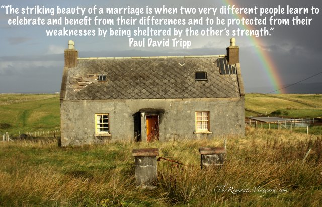 Celebrating the differences and making them a strength in marriage.